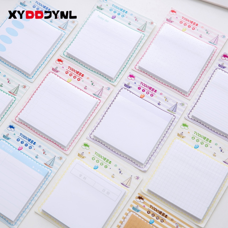 Uds.-Bloc de Notas autoadhesivas coreanas, Notas recordatorias Adhesivas, Notas Adhesivas, material escolar...