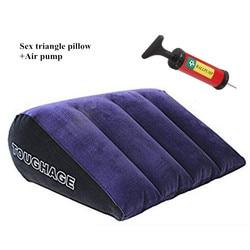 Волшебная треугольная секс-подушка с воздушным насосом, Эротическая климакса, надувная подушка, мебель, интимные игрушки для женщин, пара