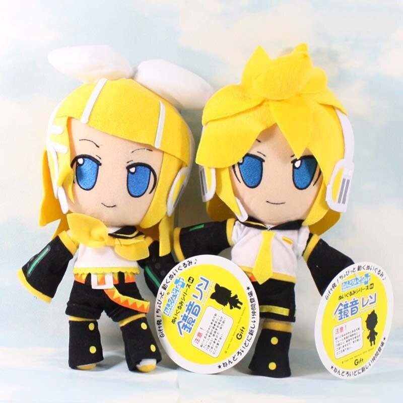 30cm bonito vocaloid hatsune miku kagamine rin len pelúcia macio figura boneca brinquedos para crianças presentes de aniversário