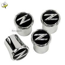 Pour Z Logo voiture-style roue pneu pneu Valve tige bouchons jante autocollant pour Nissan Z 350Z 370Z Almera Altima Titan Frontier Juke Note