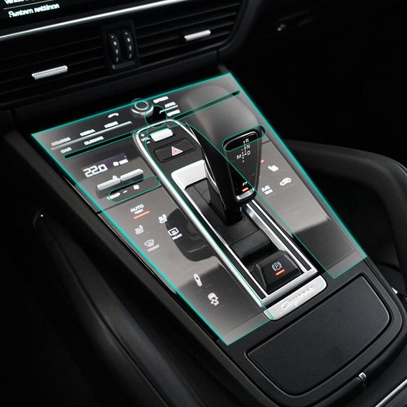 1 комплект, аксессуары для салона автомобиля, Защитная пленка для Porsche Cayenne 3rd Gen (PO536) 2018 2019, левый руль