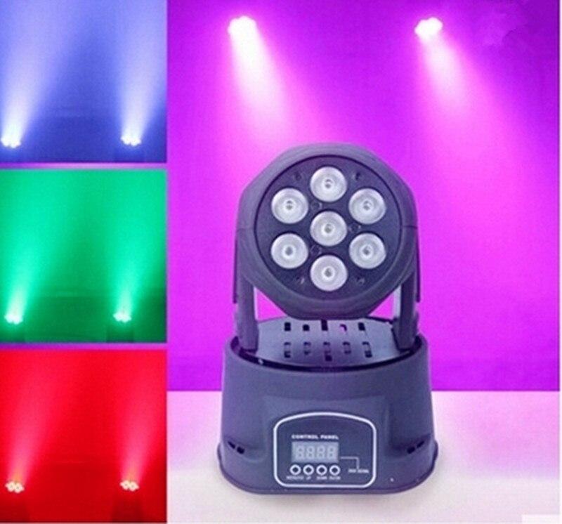 Светодиодная мини-лампа с движущейся головкой, 7x12 Вт, 8 шт.