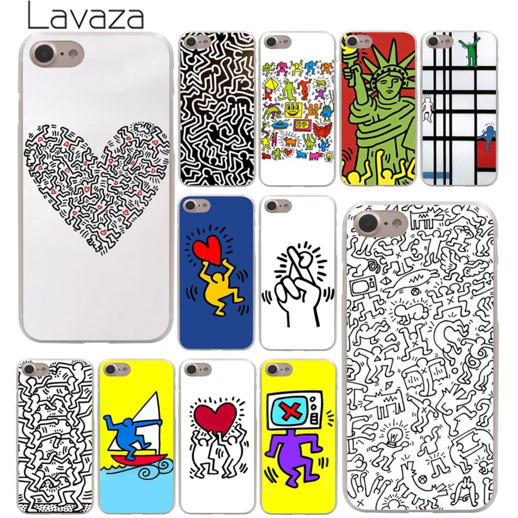 Твердый чехол для телефона Lavaza Keith Haring art Для iPhone XR X XS 11 Pro Max 10 7 8 6 6S 5 5S SE 4 4S