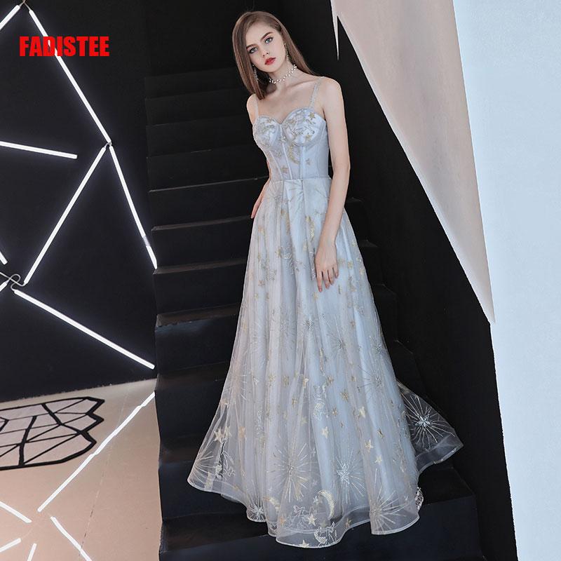 FADISTEE-فستان سهرة طويل من التل ، فستان سهرة ، فستان حفلات ، فستان سهرة