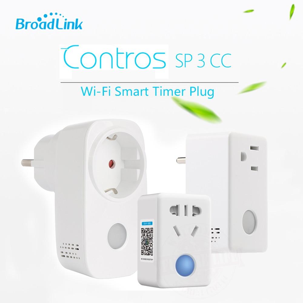 Broadlink SP3 cc enchufe EU US SP Mini3 Control enchufe inteligente WiFi inalámbrico Control remoto 16A/15A enchufe de fuente de alimentación IOS Android