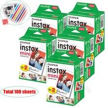 100/60 weiß Blätter Echten Fuji Fujifilm Instax Mini 9 Film Für Mini 8 9 7s 7c 90 70 25 teilen SP-1 SP-2 Liplay Instant Kameras