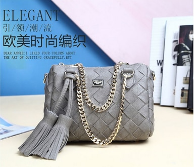 by dhl or ems 50pcs Knit Handbags Women Handbags 2017 New Fashion Tassel Chain Shoulder Messenger Bags Vintage Pillow Bag