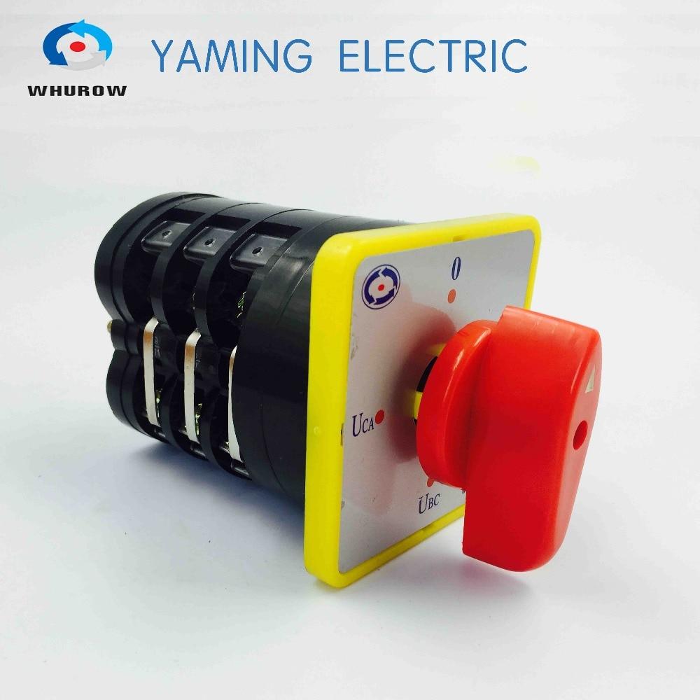 Chave de transferência Manual de 3 fase interruptor interruptor de 3 posições chave seletora de voltagem LW5-16YH3/3