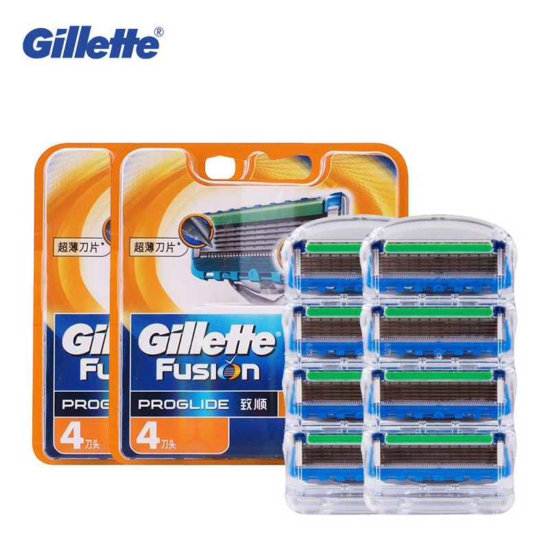 Cuchillas de afeitar Gillette Fusion Proglide Power para hombres, cabezales de afeitar para el cuidado de la cara, 8 Uds.