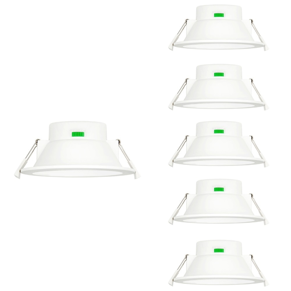 4 pulgadas regulable 12W LED blanco luces empotrables de techo IP44 baño...