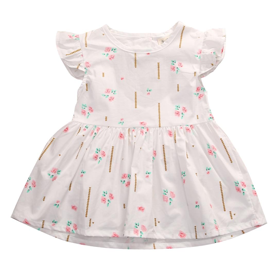 Newborn Toddler Baby Girl Dress Princess Party Casual Sleeveless Cotton Dresses