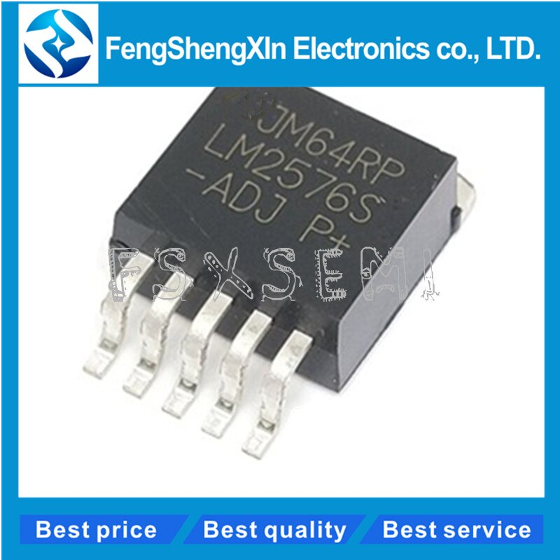 10 unids/lote LM2576S-ADJ LM2576-ADJ a 263-5 regulador de voltaje ajustable chip