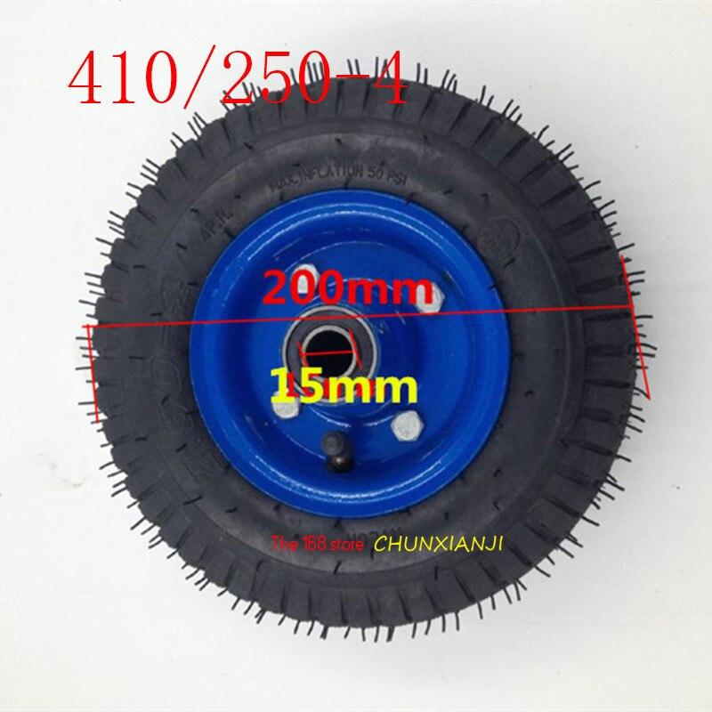Pneu pneumático de alta qualidade para rodas de carrinho de mão de 8 polegadas 410/250-4