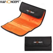 K & F CONCEPT caméra lentille filtre portefeuille étui 6 poches filtre adaptateur anneau sac pour 49mm-77mm UV CPL FLD ND titulaire pochette