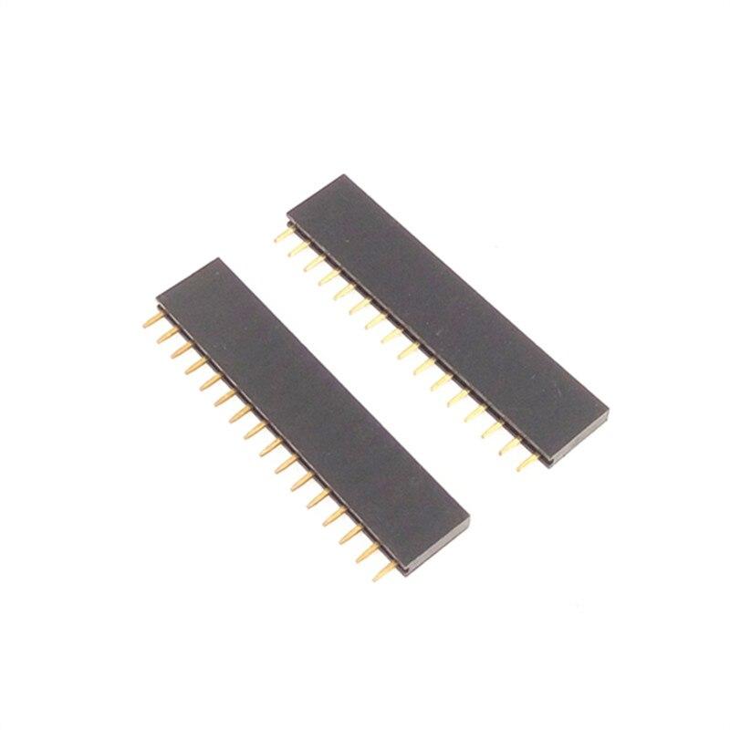 10 шт./лот 16 pin одиночное женское сиденье 2 54 мм расстояние 1*16P прямое основание иглы