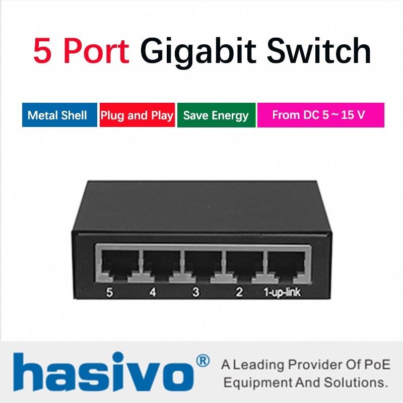 Gigabit switch 5 port gigabit desktop Ethernet Network Switch 10/100/1000M