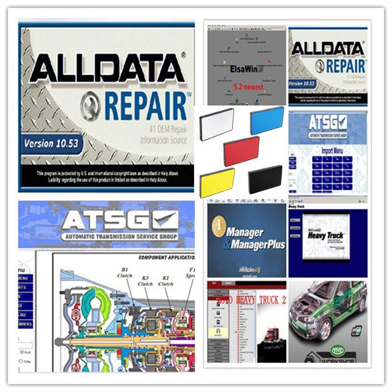 2019 Venta caliente Alldata 10,53 software mitchell en la demanda de software 2015 de datos de reparación software elsawin atsg pesado camión ect