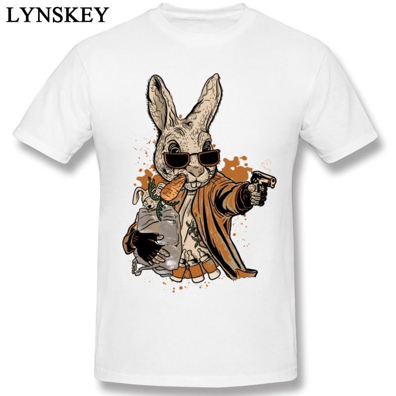 Футболка с изображением кролика Смита, пистолета, банды, зайца, пули, Забавный дизайн, причудливая футболка, крутые мужские футболки с морко...