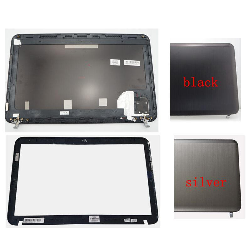 99 новая LCD задняя крышка/LCD передняя рамка для HP Pavilion DV6 DV6-6000 665288-001 640417-001 серебристый/черный