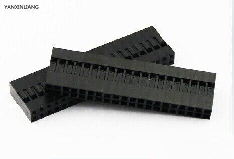 10 шт./лот 40 Pin 2x20 Pin 2,54 мм двухрядная пластиковая головка Dupont перемычка провод кабель корпус Женский контактный разъем