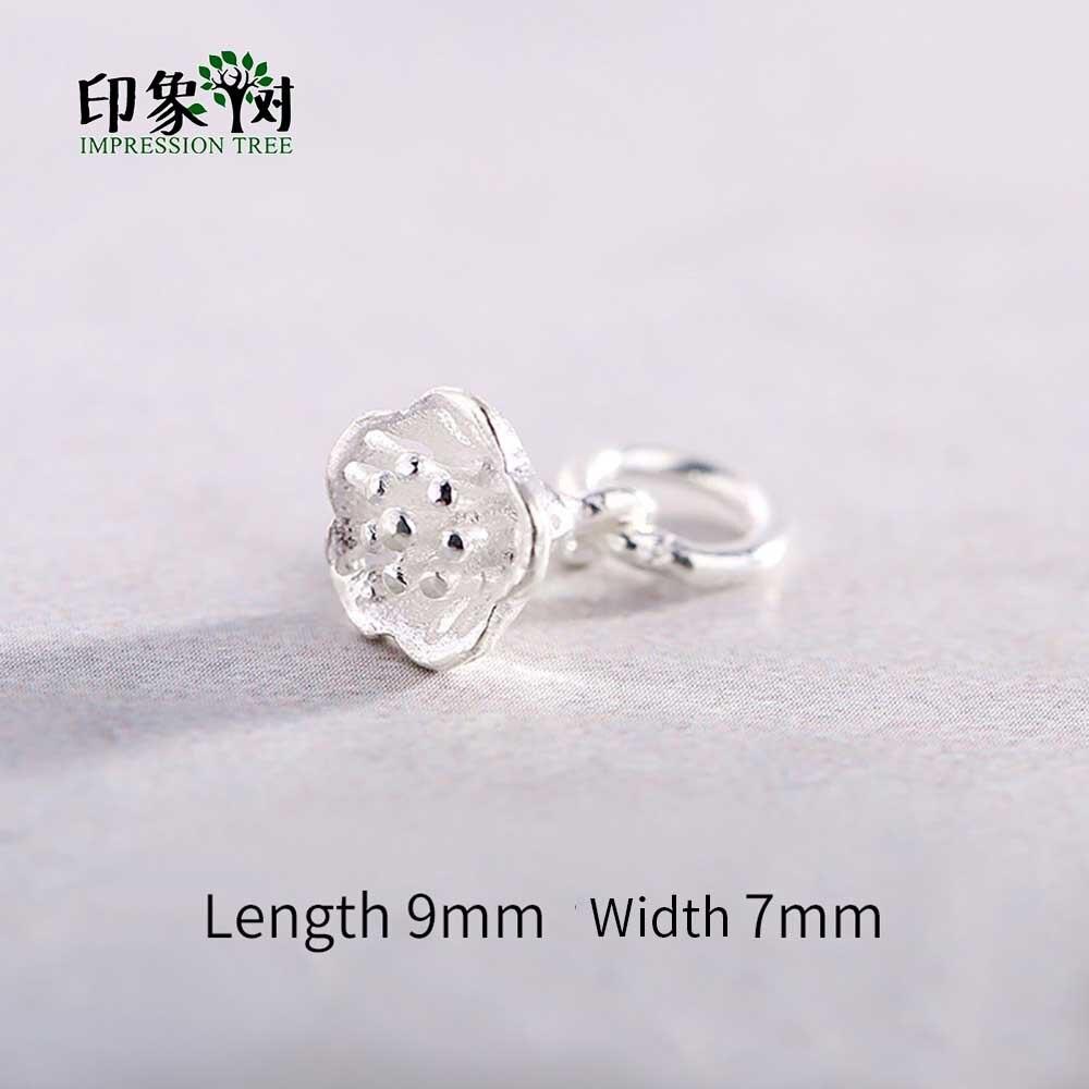 1 pc 9x7mm 925 prata esterlina cor encantos trompete flor bonito chique pingente para colar diy jóias makings 92551