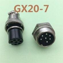 1 pièces GX20 7 broches mâle et femelle 20mm fil panneau connecteur Aviation prise L99 GX20 connecteur circulaire prise livraison gratuite