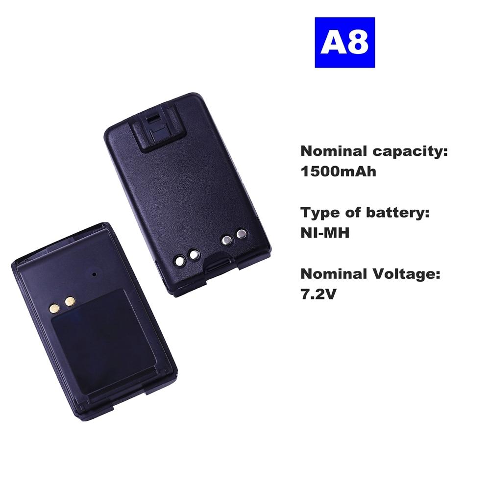 7.2V 1500mAh NI-MH Radio Battery A8 For Motorola Walkie Talkie A8 Two Way Radio недорого