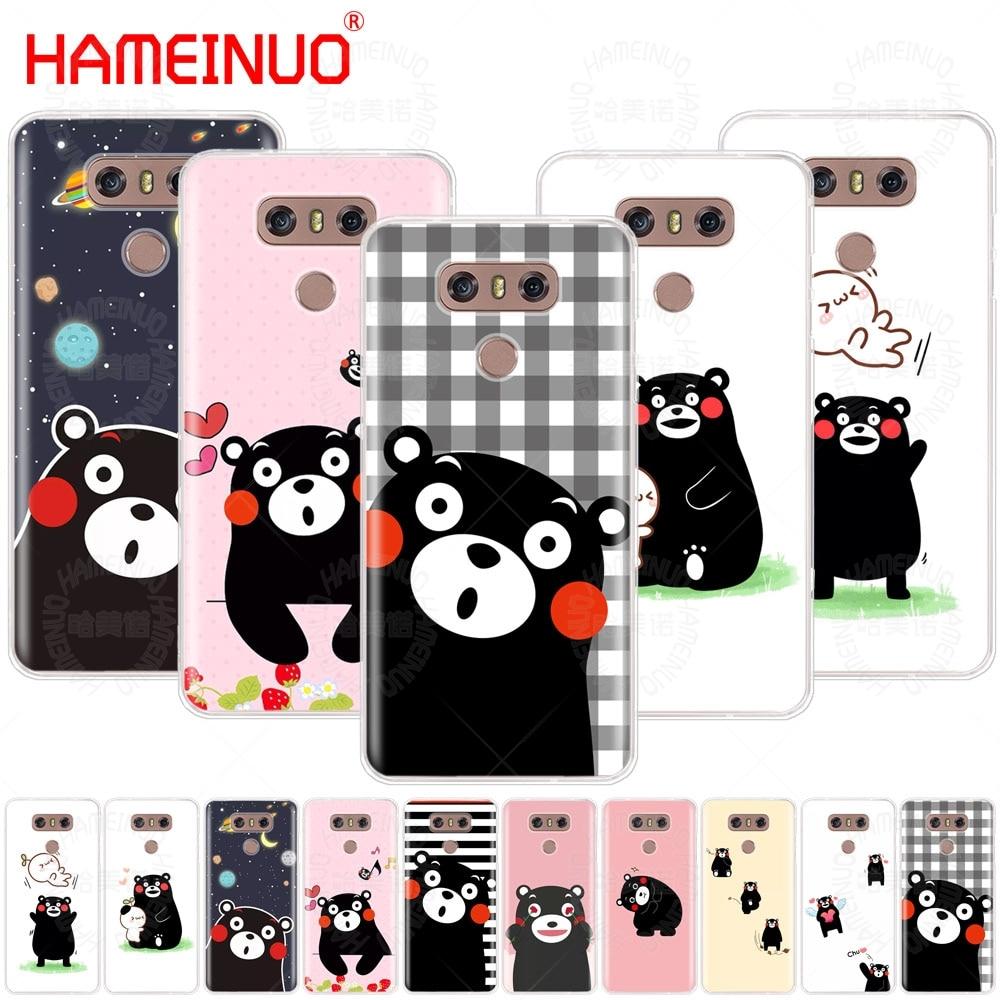 HAMEINUO Japón Kawaii Kumamon oso cubierta del teléfono del caso para LG G7 Q6 G6 MINI G5 K10 K4 K8 2017 2016X2 V20 V30 2018