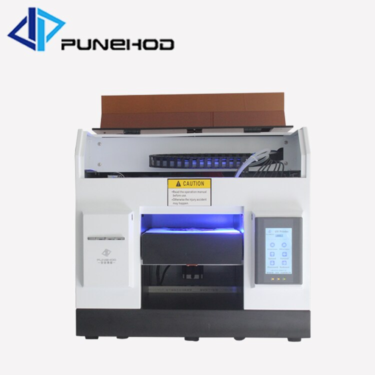 Impresora digital de base plana UV LED A4 tinta de inyección de tinta para impresora de vidrio