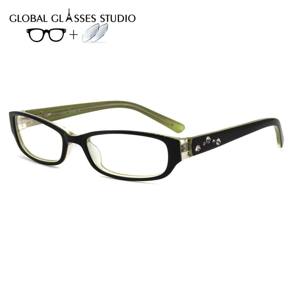 Women Leisure Acetate Glasses Frame Eyewear Eyeglasses Reading Myopia Prescription Lens 1.56 Index P