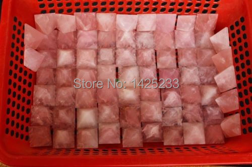 4mm 1kg 16pcs Natural rose Quartz Crystal point  Pyramid Healing