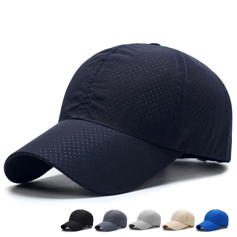 2019 Solid Summer Baseball Cap Men Snapback Women Quick Dry Mesh Cap Breathable Sun Hat Bone Masculino Trucker Cap