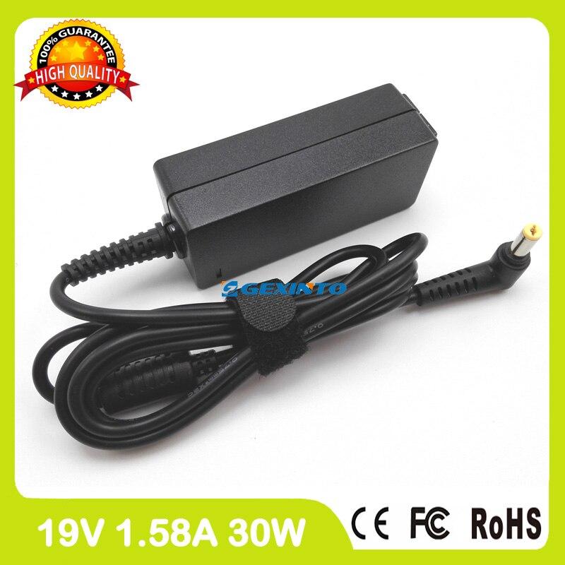 19 v 1.58a 30 w adaptador ac carregador portátil para acer aspire ap.03003.001 One D150 D210 D250 D255 D255E D255E D257E D257 D260 D270
