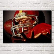 american football game battle mood artwork living room decor home wall art decor wood frame fabric posters KG160