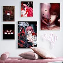 الصور جدار الفن وحدات إلفن كذب أنيمي قماش الشمال نمط المنزل الديكور اللوحة يطبع المشارك لغرفة المعيشة كوادروس