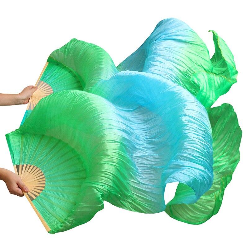 2018 Высококачественная китайская шелковая Фата для женщин, для Танцев Живота, пара фанатов для танца живота, дешево, горячая распродажа, зеле...