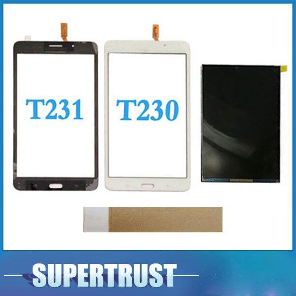 """7 """"para Samsung Galaxy Tab 4 7,0 T231 SM-T231 T230 SM-T230 separado de la pantalla LCD y la pantalla táctil por separado con cinta"""