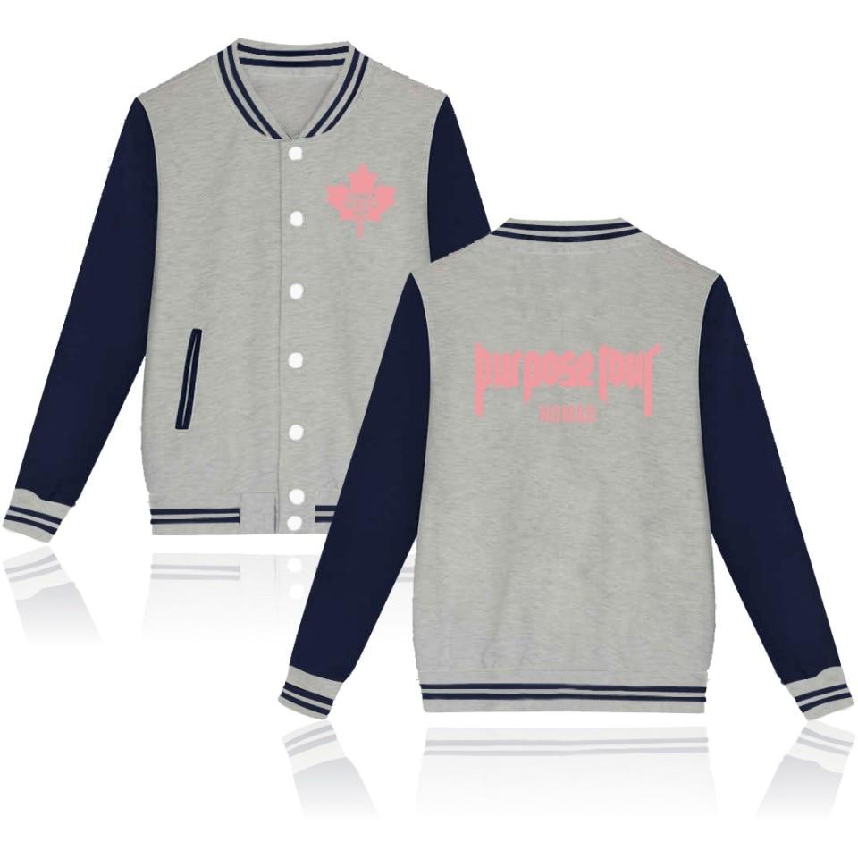 جاستن بيبر-سترة بيسبول للنساء ، ملابس الشارع ، قمصان للرجال ، جاكيتات ، ملابس كبيرة الحجم