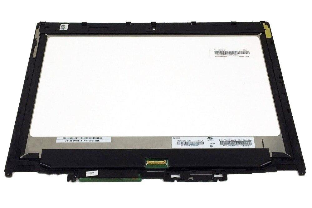 "Montaje para Lenovo ThinkPad Yoga 260 FRU 01AX908 FHD LCD Digitalizador de pantalla táctil bisel 12,5 ""1920x1080 reemplazo de pantalla LED"