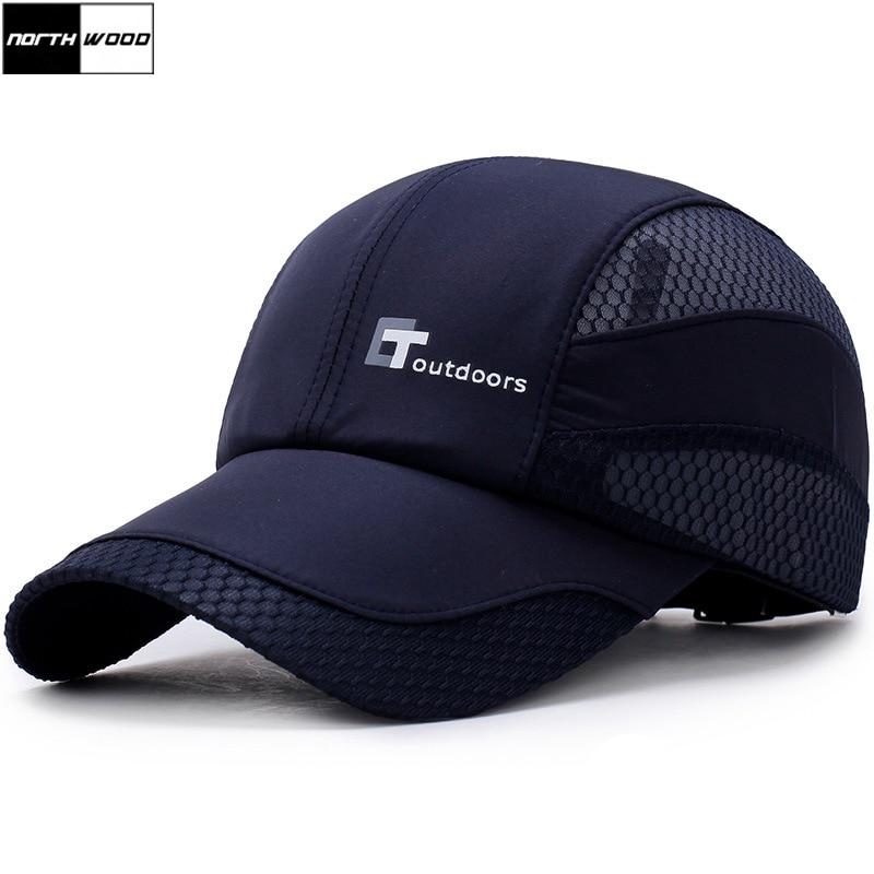 [NORTHWOOD] gorra de béisbol de verano de alta calidad, gorra de Sol para hombres, gorra de béisbol para mujeres, gorra de hombre lisa de verano, gorra de camionero de malla