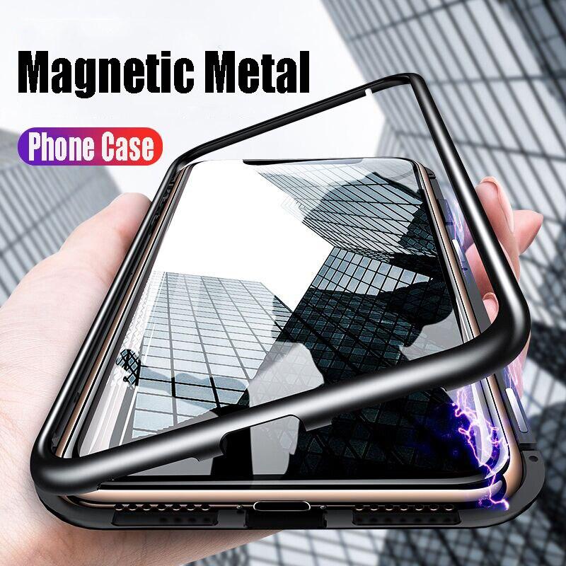 Funda de teléfono GerTong de cristal magnético para Huawei Honor 8x, carcasa de marco metálico para Huawei Mate 10 20 Lite P20 P30 Pro, funda trasera