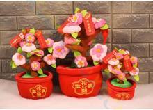 Parti lehine Bahar şenlikli maskot süs düğün fotoğraf sahne Şeftali orange Fortuna Bebek Çin Yeni Yıl Dekorasyon ev hediye