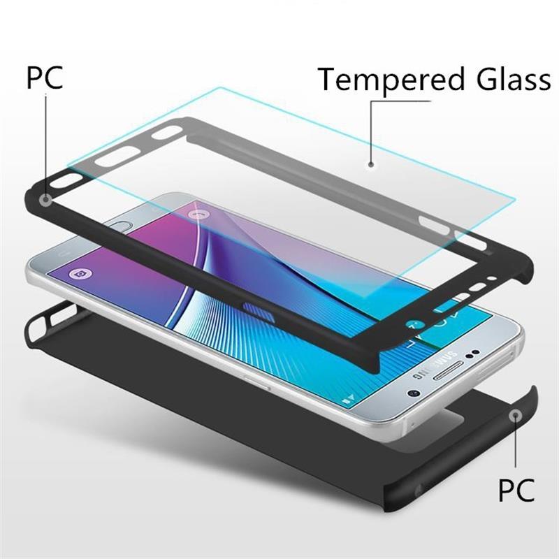 Para samsung galaxy s9 pus s8 mais caso 360 capa completa para samsung galaxy s9 s8 capa combinada vidro temperado de volta escudo do telefone