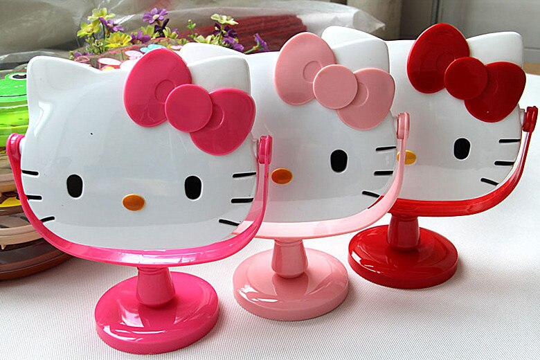 Nuevo Hello Kitty Girls Escritorio de mesa arco maquillaje espejo AA-035
