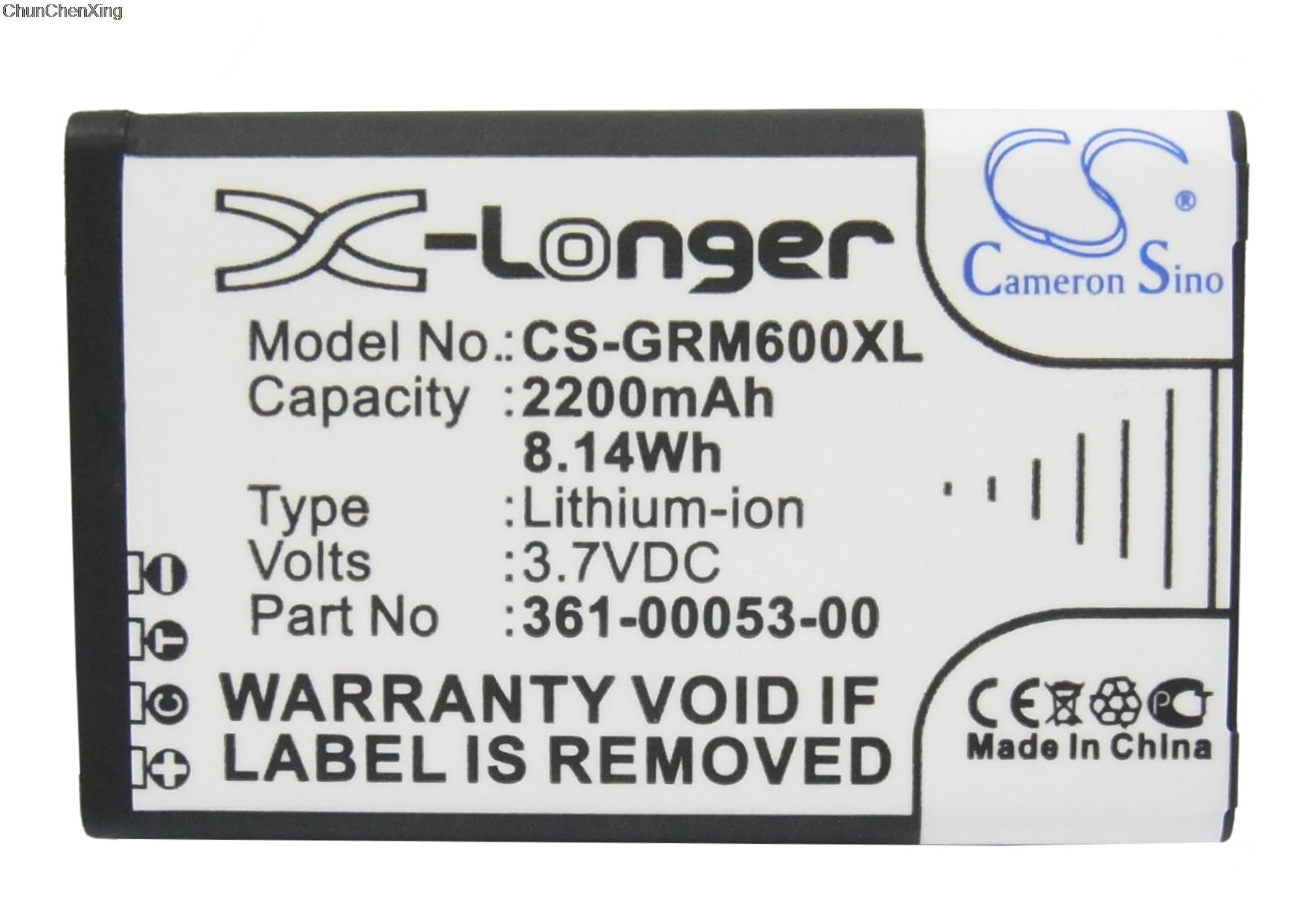 Cameron Sino 2200mAh Battery 361-00053-00 for Garmin Alpha 100 handheld, Montana 600, 600T, 600t Camo, 650, 650T,