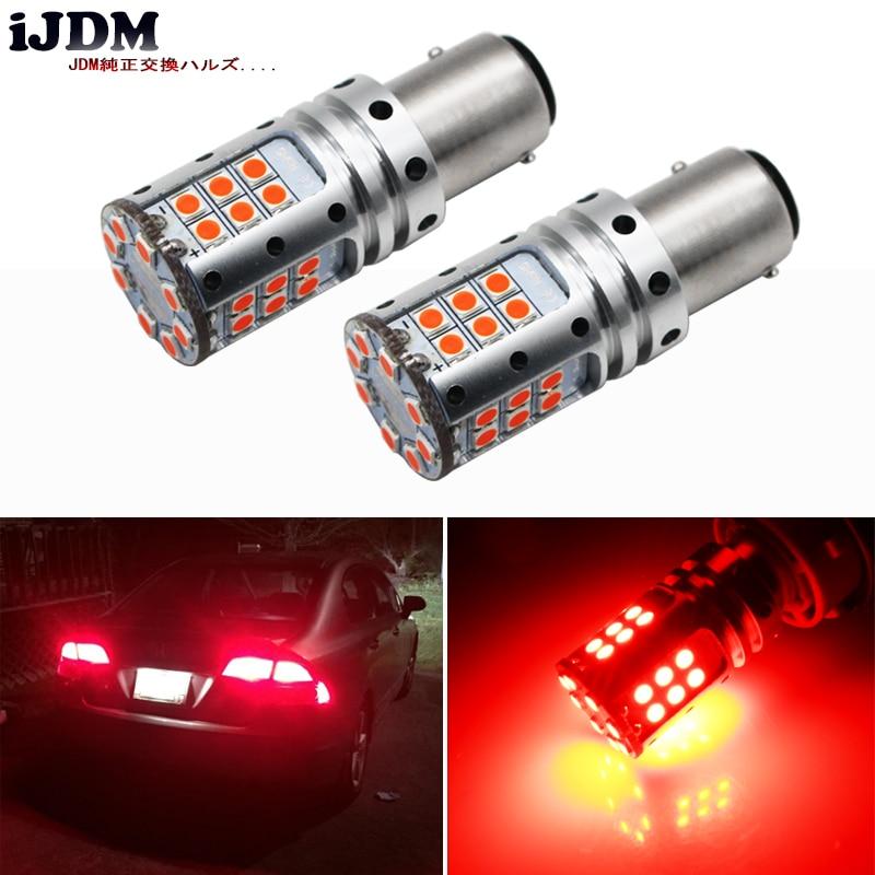 iJDM Car LED Stop Lights Canbus 1157 P21/5W BAY15d BAZ15D 3030 32SMD Car Brake Reverse Lamps Rear Fog Parking Bulbs 12V No Error