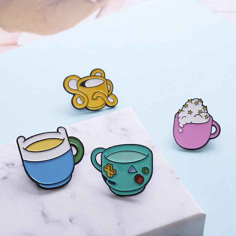 4 estilos Mini Lindo juego de estrellas de espuma gato oreja Copa insignias broches Denim esmalte solapa pines festival regalos para niños venta al por mayor de joyería