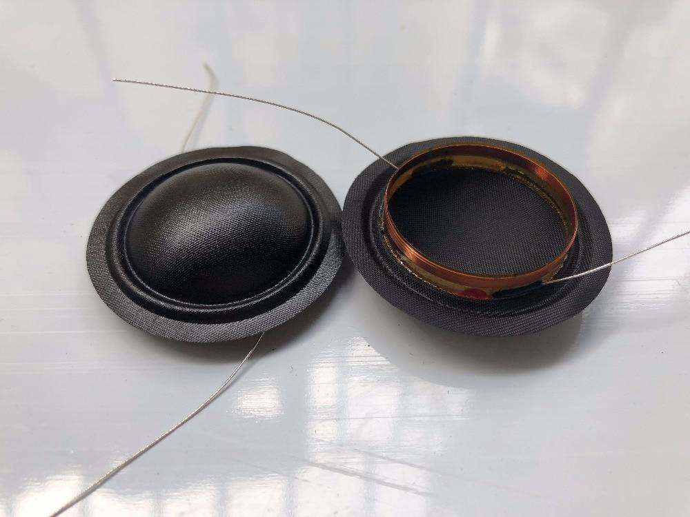 2 piezas ID 26mm diafragma de seda Domo 4 ohm Tweeters altavoz Bobina de voz