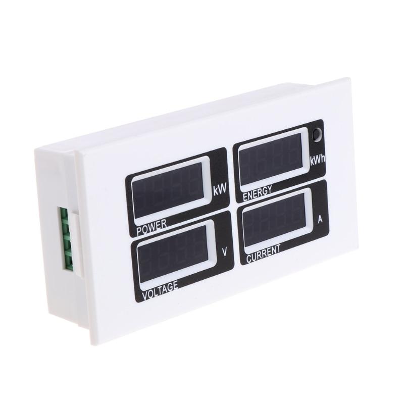 4в1 цифровой амперметр вольтметр ватт Мощность счетчик энергии AC 80-260V 100A PZEM-004