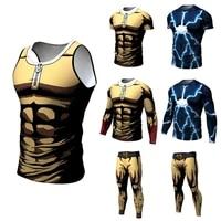 new fashion anime one punch men 3d printed saitam ken long sleeve t shirt tight slim tee tops tshirt homme mens clothing